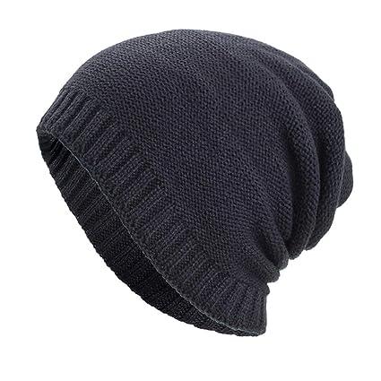 616a1b399 Dressin_Hat Women Men Skull Warm Baggy Weave Crochet Winter Wool Knit Ski  Caps Hats Visor Cap