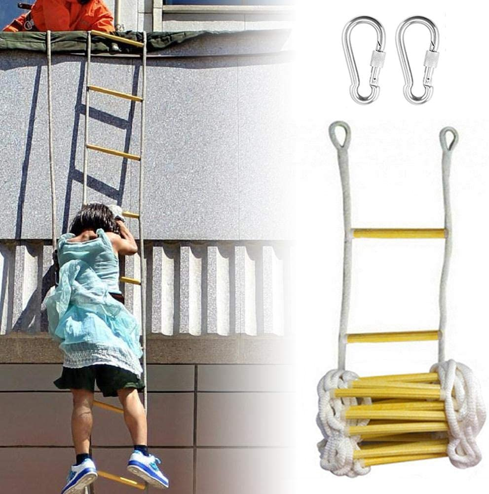 Rope Ladder Escape Ladder Home Lifeline Ladder Outdoor Round Nylon Soft Ladder Home Climbing Engineering Ladder fabulous trendy learnarmy Fire Escape Ladder