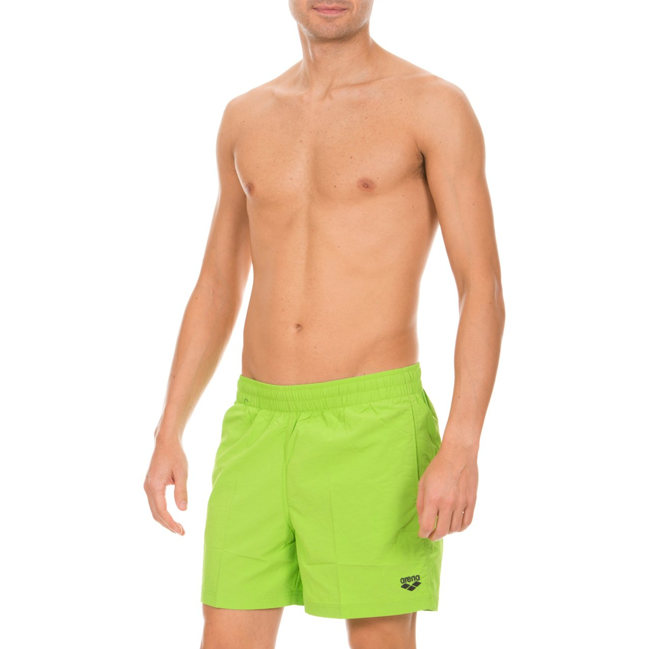 Arena Badeshorts Fundamentals Side Vent Boxer - Bóxer de baño para Hombre, Color Verde,