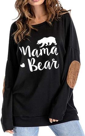 FANTIGO Mom of Boys Womens Casual Letters Print Short Sleeve Loose T-Shirt Blouse