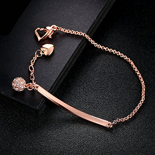 Double Fair Rose Gold Bracelet With Adjustable For Woman Teen/'s And Girls