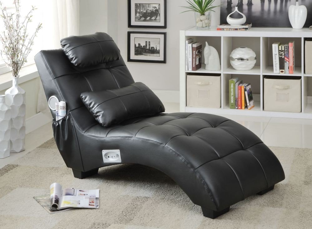 1PerfectChoice Accent Chaise with Lumbar Pillow and Bluetooth
