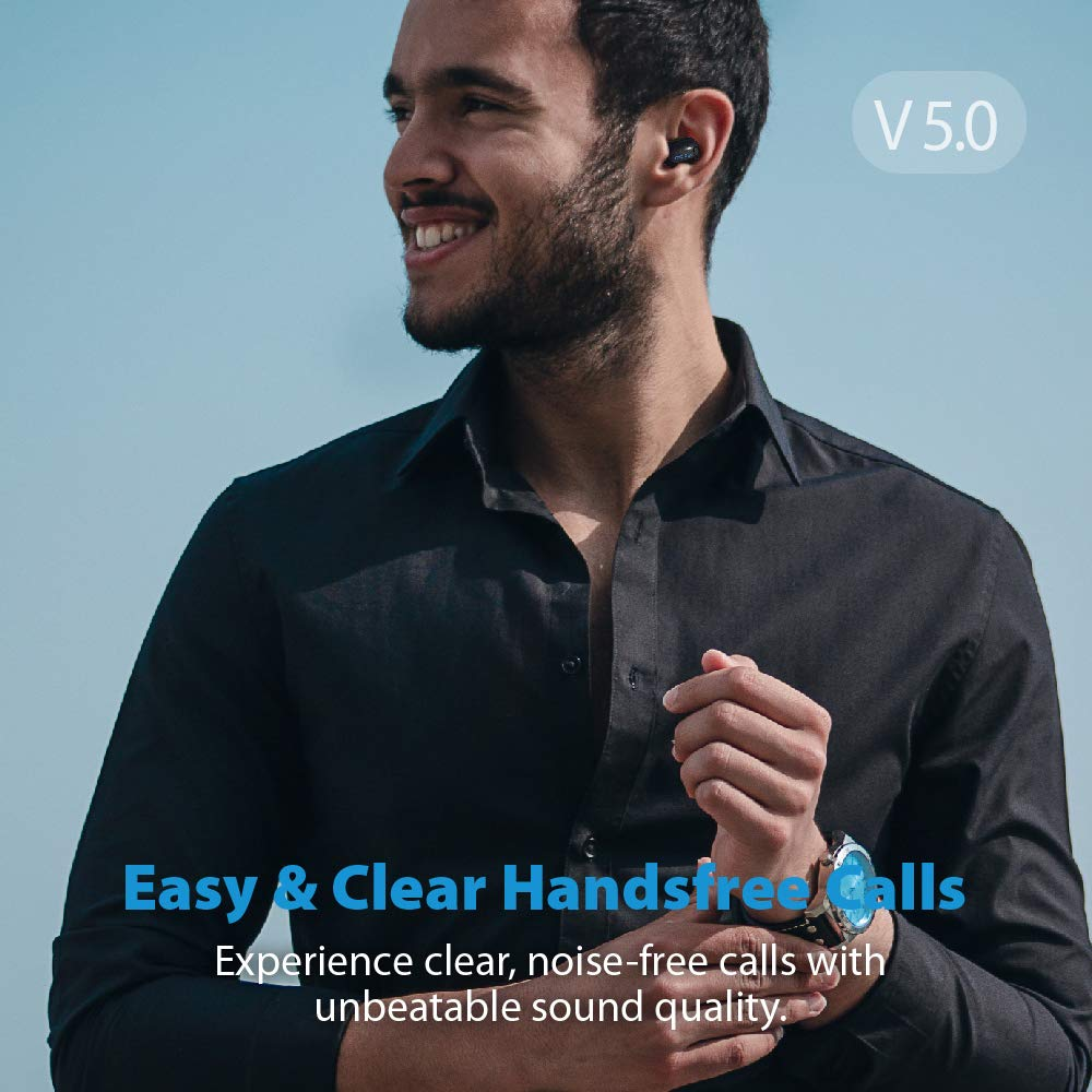 Wireless Bluetooth Earbud, Alterola IE600P Bluetooth 5.0 Single Mini Earbud with 36H Charge Case Invisible Earpiece Car Earphone for Clear Sound HandsFree Calls Music Podcasts with Microphone 1 Pcs