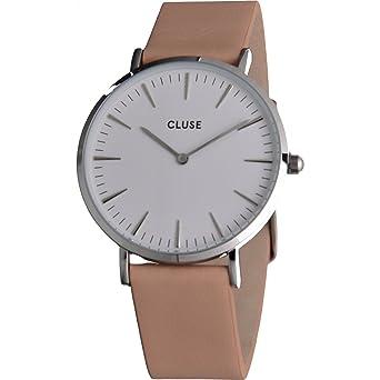 Watch Cluse La Bohème Silver White / Nude Pink CL18231: Amazon.es: Relojes
