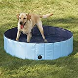 Dog Bathtub, PYRUS 47.3 x 11.8 Inches Collapsible Pet Bath Pools Large Inflatable Dog Bathtub Foldable Dog Pet Pool Bathing Tub for Dogs or Cats (L)