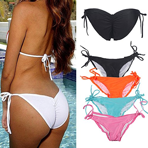 Women's Brazilian String Tie Side Bikini Bottom Triangle Hot Halter Bathing Swimwear