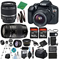 Canon Rebel T6 Camera + 18-55mm IS + Tamron 70-300mm AF + 2pcs 16GB Memory + Case + Reader + Tripod + ZeeTech Starter Set + Wide Angle + Telephoto + Flash + Battery + Charger