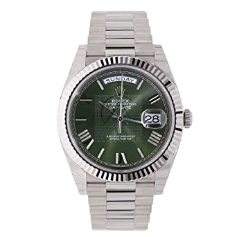 Amazon Com Rolex Day Date 40 President White Gold Watch 228239 60th
