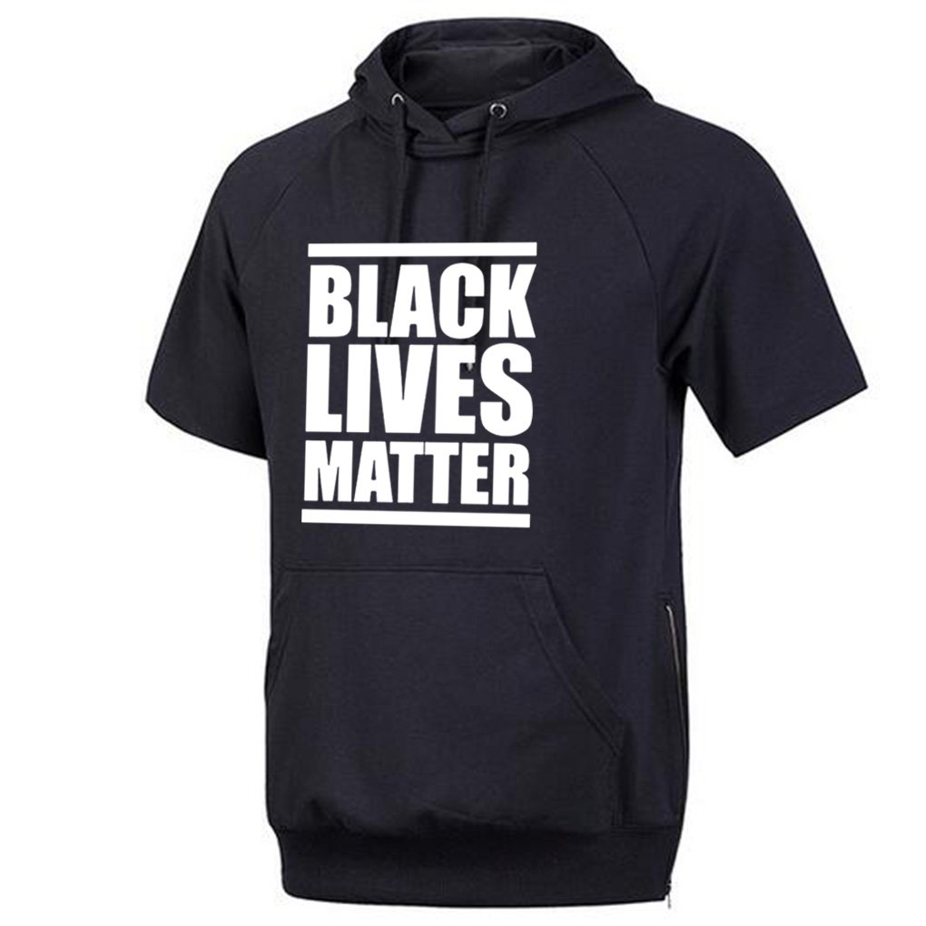 Conquershop Mens Black Lives Matter Short Sleeve Hoodie