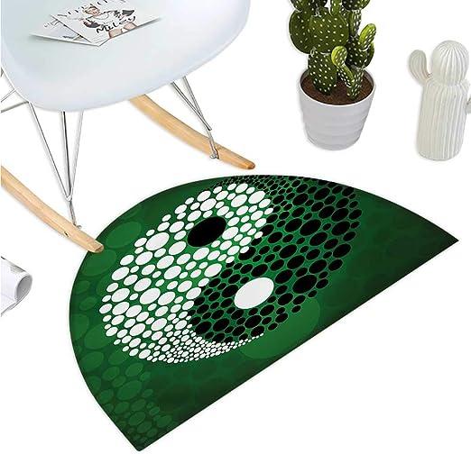 Ying Yang - Cojín semicircular, diseño de símbolo de Yin Yang ...