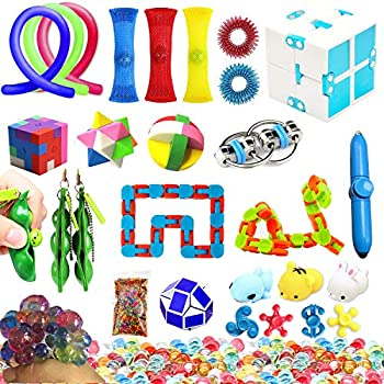 Amazon Com Fidget Toys Set 16 Pcs Sensory Tools Bundle