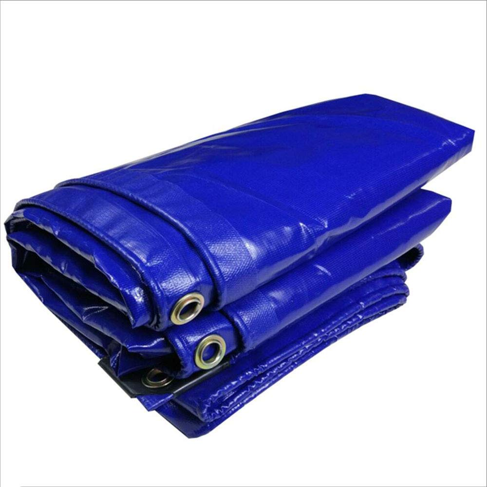 Plane Persenning 350g / m² Heavy Duty Blaue Polyethylen und doppelt laminiert 350g / m² 100% wasserdicht und UV-geschützt