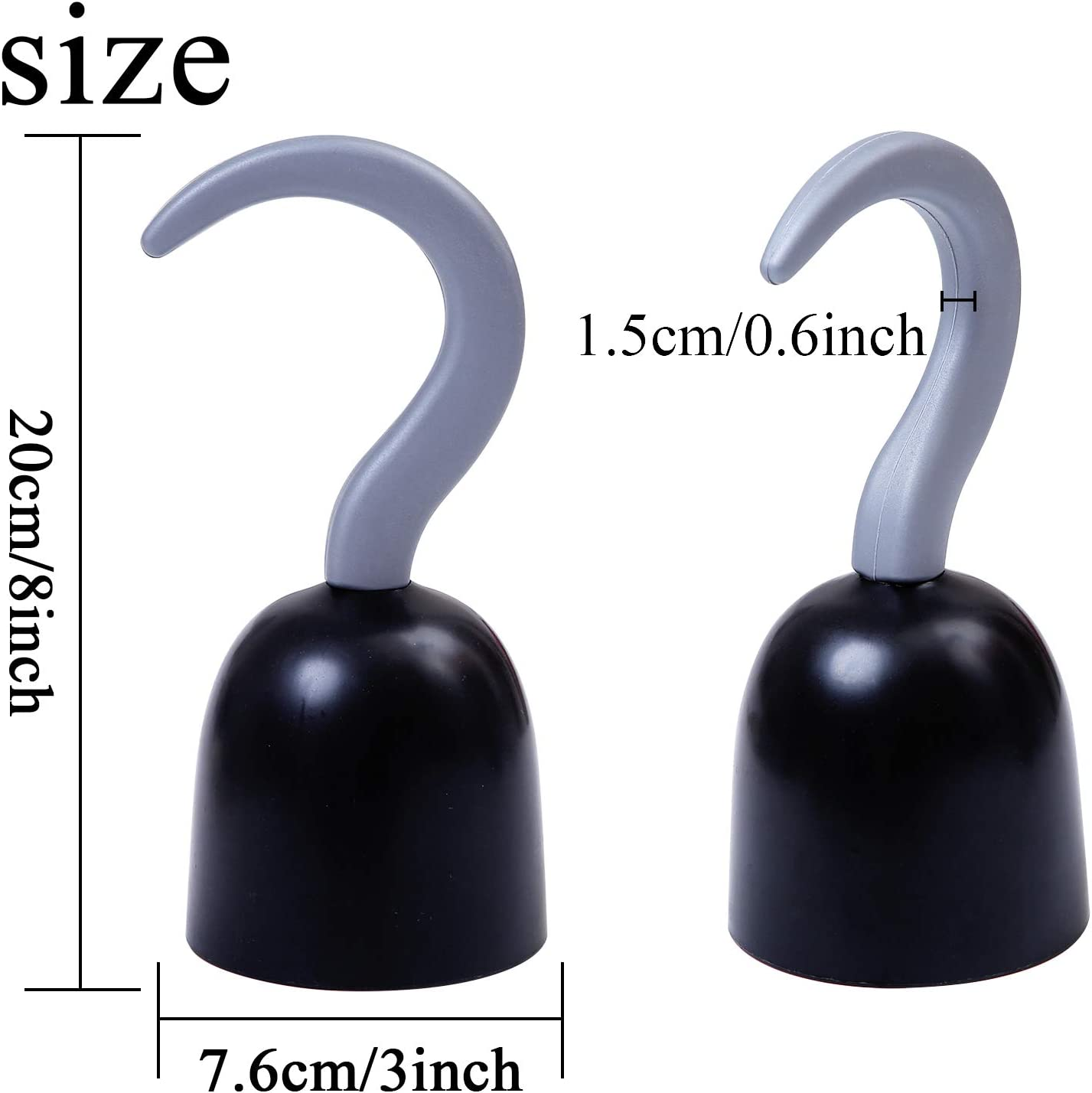 URATOT 8 Pieces Pirate Hooks Captain Hook Hand Plastic Hook Pirate Costume Accessory for Halloween Christmas Children Party
