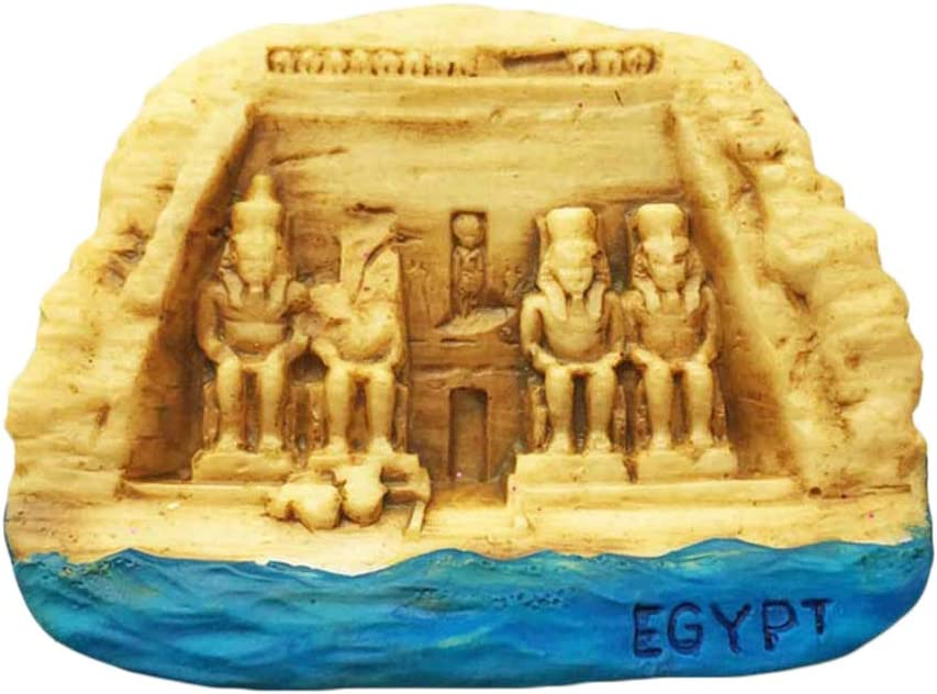 Wedare Egypt 3D Temple Fridge Magnet Tourist Souvenir Travel Sticker,Egypt Refrigerator Magnet,Home and Kitchen Decoration Collection from China