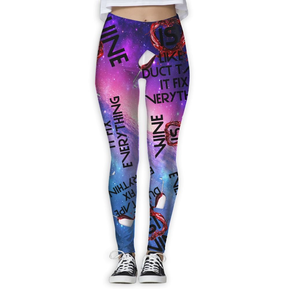 WE Yoga Wine Is Like Duct Tape It Fix Everything Gift 3D Print Women Legging For Zumba Yoga Pants