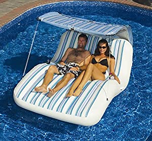 Large 2 Person Swimming Pool Lounger Beach Inflatable Raft Float Air  Mattress