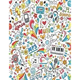 Song Writing Journals For Kids: Colorful Lined/Ruled Paper And Staff, Manuscript Paper For Notes, Lyrics And Music. For Music