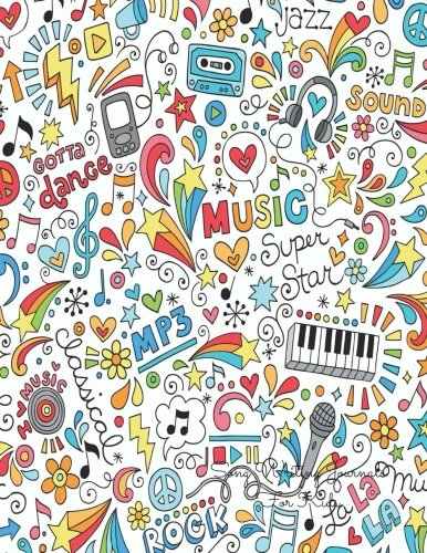 Song Writing Journals For Kids: Colorful Lined/Ruled Paper And Staff, Manuscript Paper For Notes, Lyrics And Music. For Musicians, Students, Songwriting. Book Notebook Journal 100 Pages  (Kids Songs Music Lyrics)