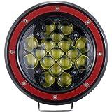 Z-OFFROAD 1PC Red 5 Inch Round LED Offroad Light 51W 5100lm Spot Drving Fog Lamp Off Road Pod Lights LED Work Light Bar…