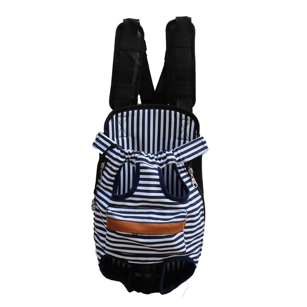 Green and white stripes XL Green and white stripes XL Pet Backpack Dog Cat Cat Out Chest Pack Pet Bag (color   Green and White Stripes, Size   XL)