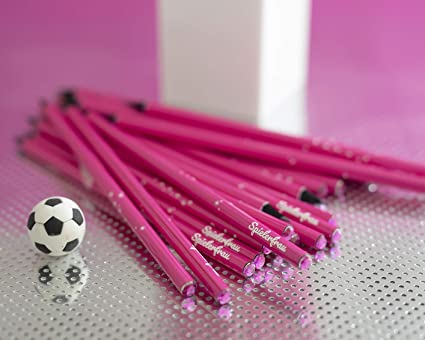 10 Pack lápiz jugador Mujer y un balón de fútbol goma de borrar ...