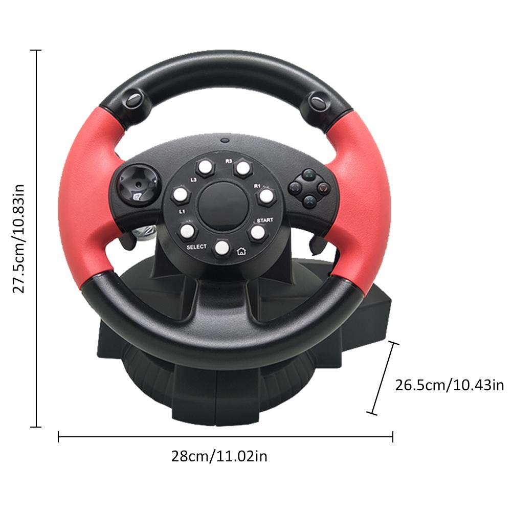 TODAYTOP for FT33 Series 200° Rotation Angle Game Steering Wheel Racing Wheel Dual Motor Vibration for PS 3/PS 2/PC (D-Input/X-Input/Steam by TODAYTOP (Image #3)