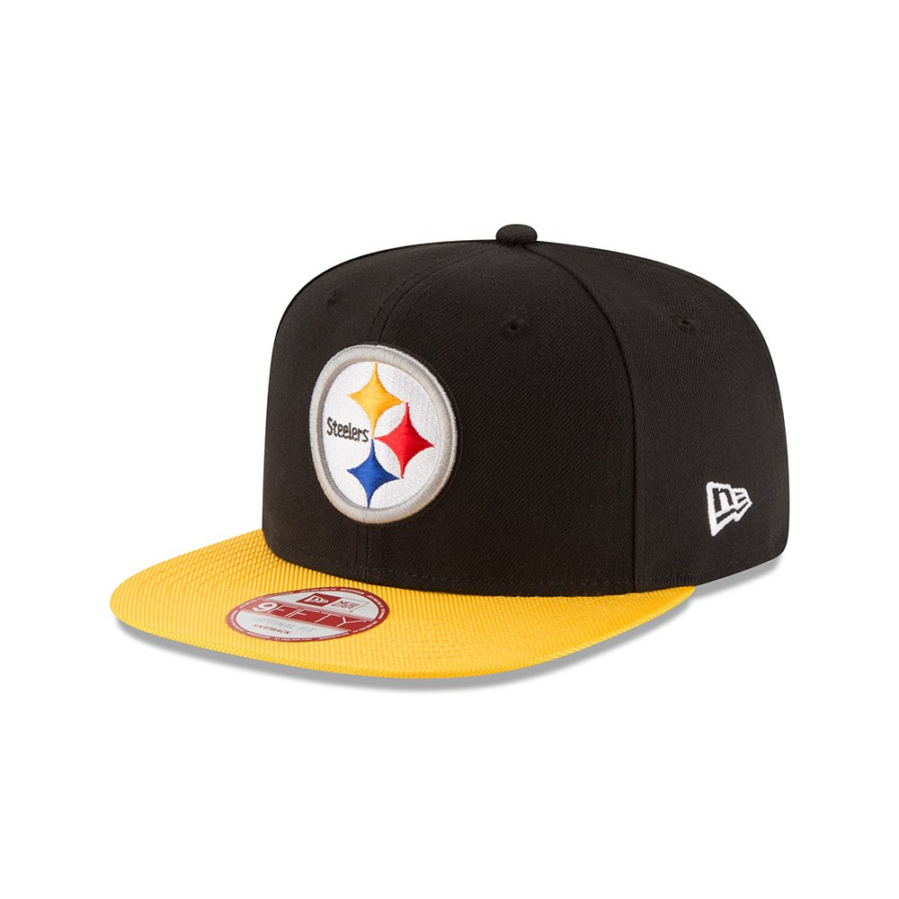 New Era Men s NFL 2016 Steelers 9Fifty Sideline Snapback Cap Black Gold  Size One Size at Amazon Men s Clothing store  249798c41