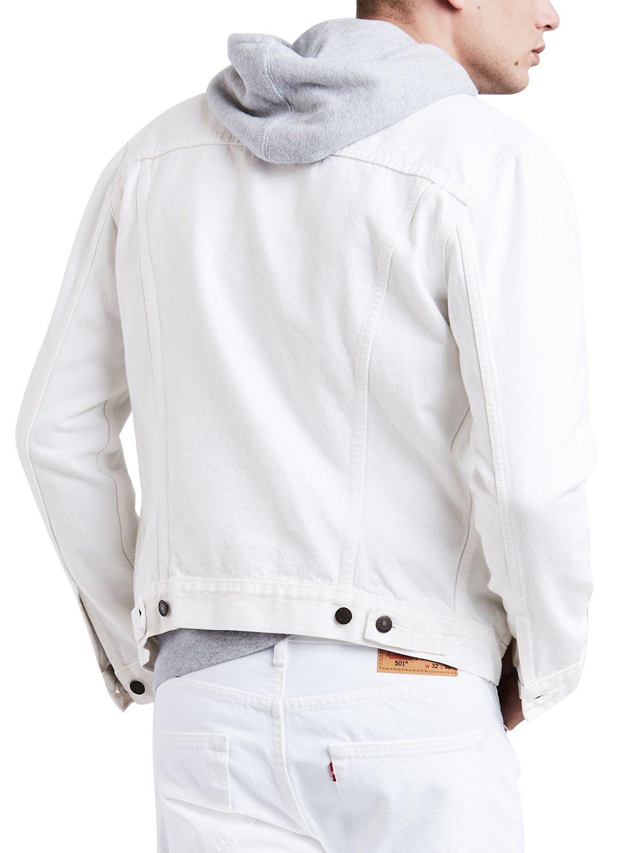 Levi's Men's The Trucker Jacket, White, Small