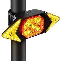 Luz traseira de bicicleta com controle remoto sem fio recarregável luz traseira de bicicleta impermeável ciclismo luz de…