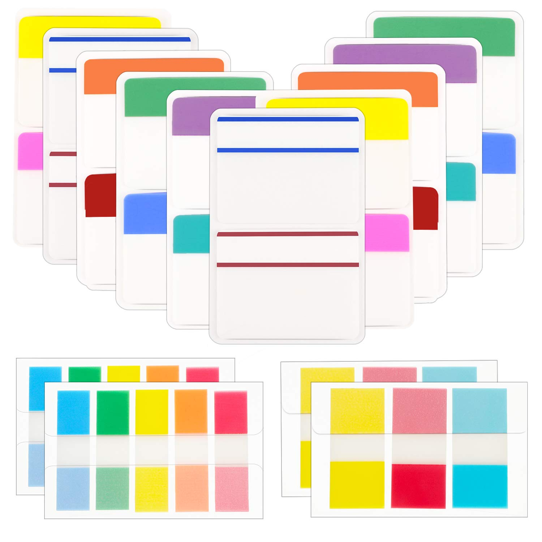 720 Pi/èces Onglets dIndex Collants /Étiquettes de Marqueurs de Page Color/é Drapeaux Onglets de Fichiers pour Notes de Lecture Classification de Fichier de Livres