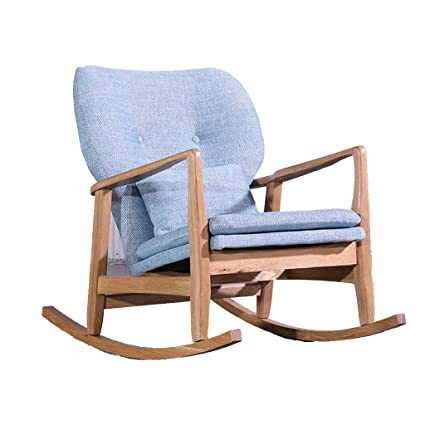 Wondrous Amazon Com Hyyty Y Solid Wood Single Rocking Chair Fabric Creativecarmelina Interior Chair Design Creativecarmelinacom