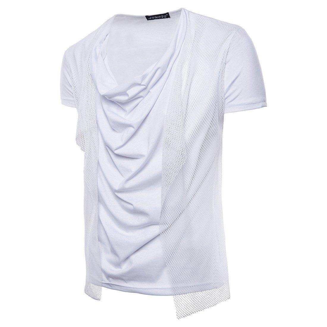 WHLTX Camisetas Para Collar De Montón De Mangas Cortas 2018 Jóvenes Fashion Hombres Casual De Malla WHLTX-ZZ