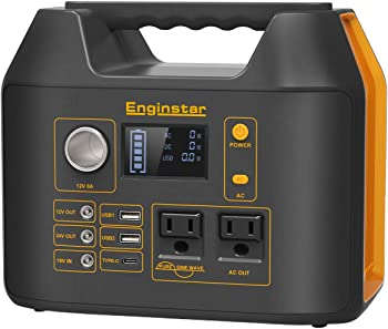 Enginstar 110 Watt Portable Power Station 298Wh Solar Generator
