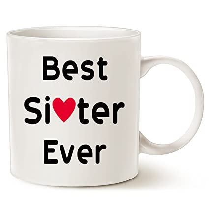 Amazon.com: Mother\'s Day Gifts Mug for Sister, Best Sister Ever ...