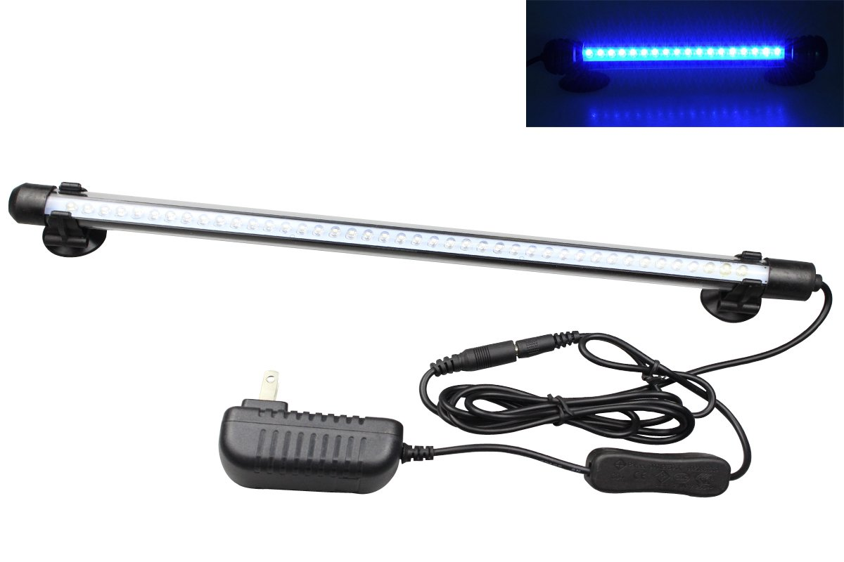 Mingdak® LED Aquarium Light for Fish Tanks,42 Leds,14.5-inch,blue