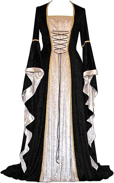 Amazon.com: YEAXLUD - Disfraz de renacimiento para mujer ...