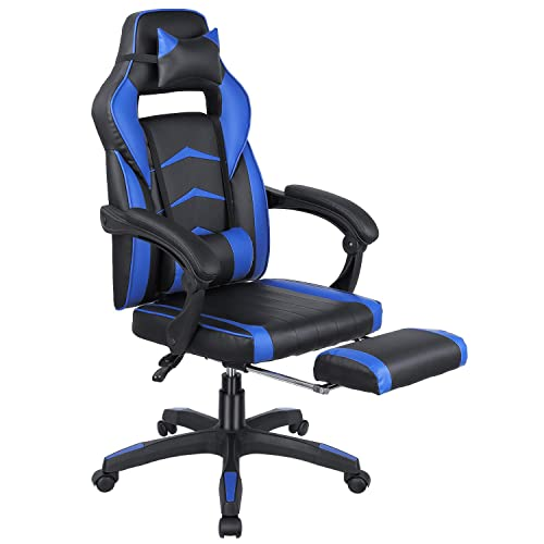 Femor Gaming Chair Office Chair Racing Chair for Adults, Ergonomic Design with Two Cotton Pillow, Adjustable Height for Adults, Men Woman