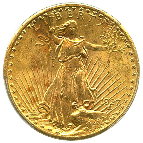1927 P 20 Saint Gaudens Gold Twenty Dollar Ms63 Pcgs At