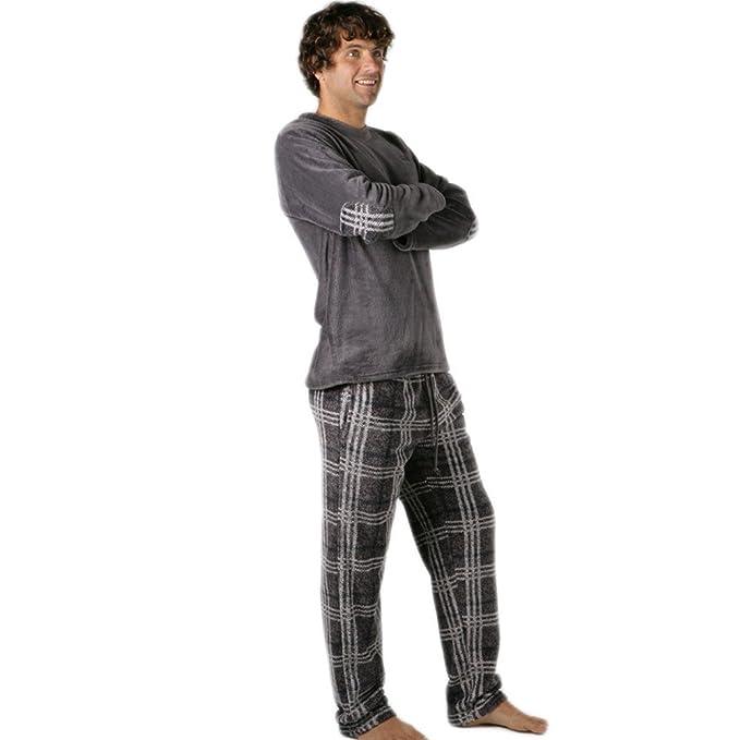 PETRUS - Pijama Chico Hombre Color: Gris Talla: S