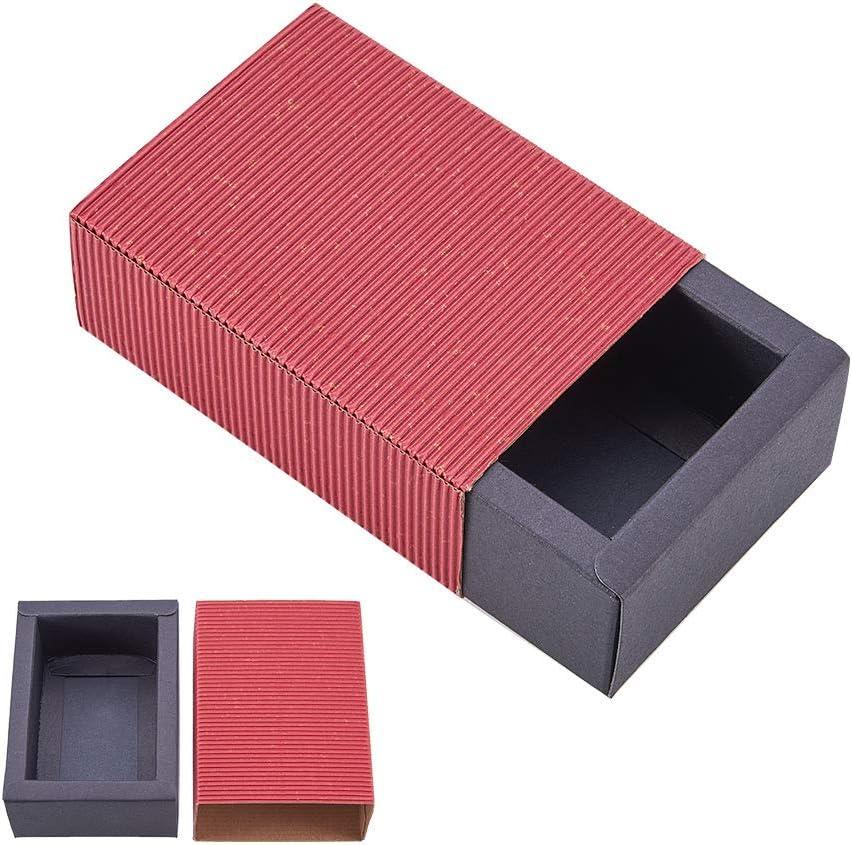 BENECREAT 20 Pack Caja de Cartón Kraft Cajas de Regalo para Fiesta Superior Envase de Joyería - Rojo y Negro 11.2x8.2x4.2cm: Amazon.es: Juguetes y juegos