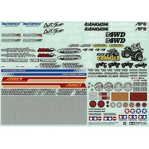Rc Racing Decals - Tamiya 54630 RC Sponser Sticker Set Off Road Car