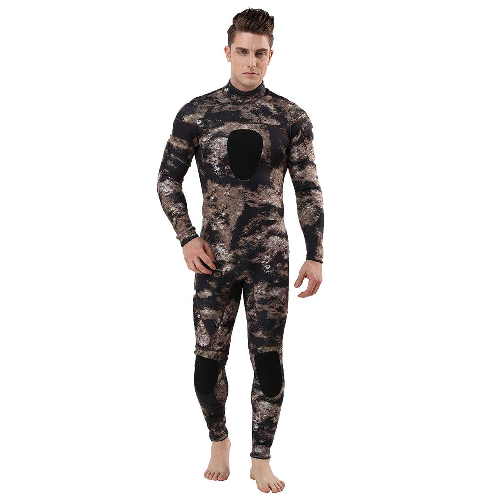 Pandaie Mens Wetsuit Full Body 3MM Neoprene Thermal Unisex Camo Diving Suit Free Diving Spearfishing Underwater Wetsuit by Pandaie