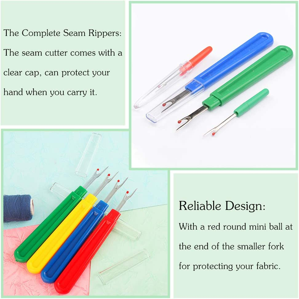 Handy Stitch Rippers for Sewing /& Crafting Thread Remove 8 Pcs Sewing Seam Ripper and Thread Remover Kit 4 Big and 4 Small Colorful Sewing Stitch Thread Unpicker