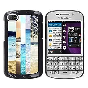 Été - Metal de aluminio y de plástico duro Caja del teléfono - Negro - BlackBerry Q10