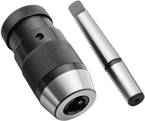 1-16mm Outil de Mandrin de Per/çage Sans Cl/é /à Changement avec Morse Tige MT2 Perceuse /à Colonne Mandrin Universel Auto-serrant Pour Outil Multifonction Rotatif Pour Tour CNC//Fraisage