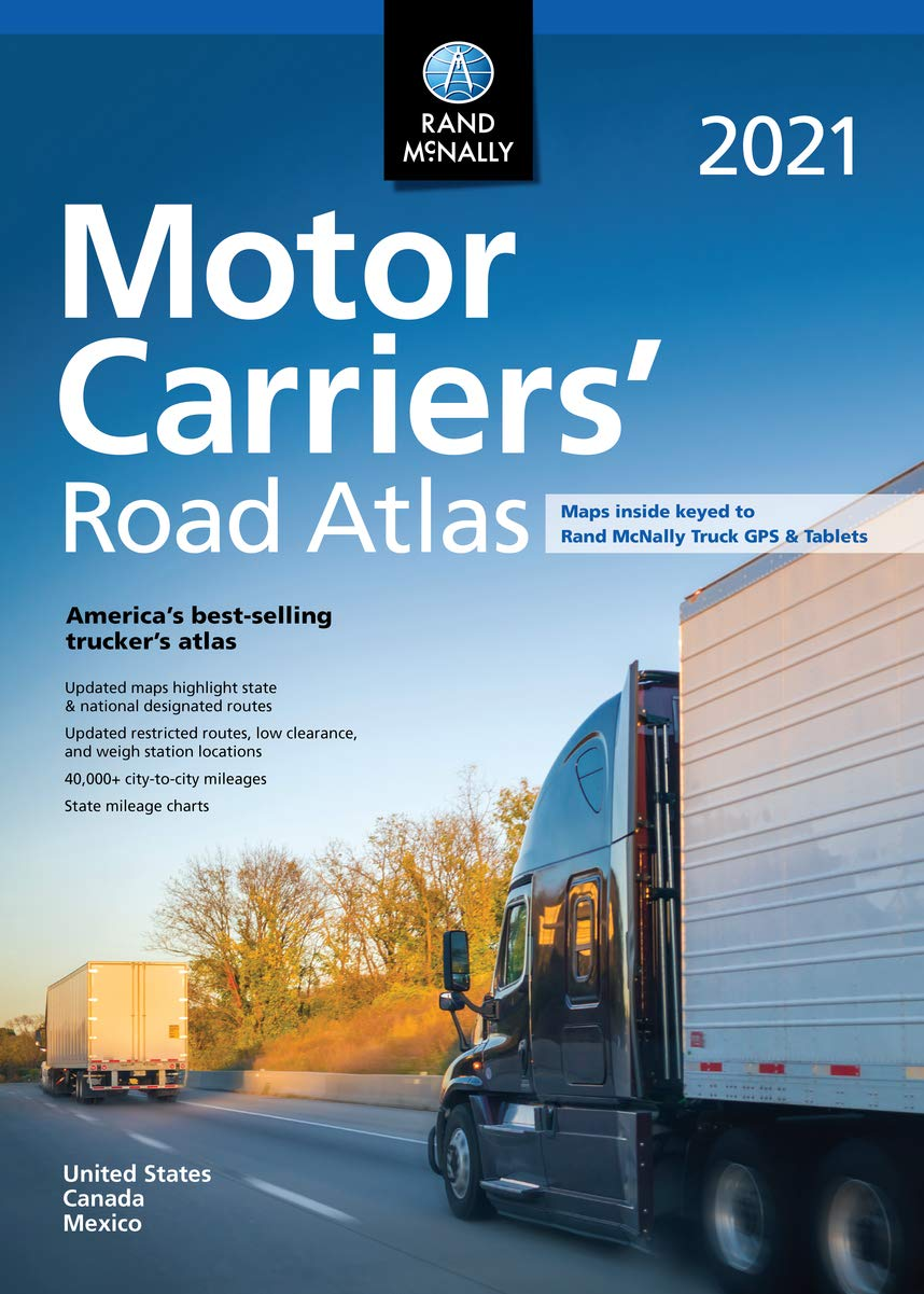 Best Phone Carrier 2021 Rand McNally 2021 Motor Carriers' Road Atlas (Rand McNally Motor