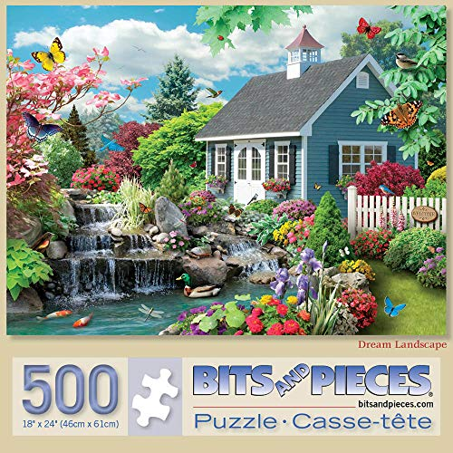 Bits and Pieces - Dream Landscape 500 Piece Jigsaw Puzzles for Adults - Each Puzzle Measures 18