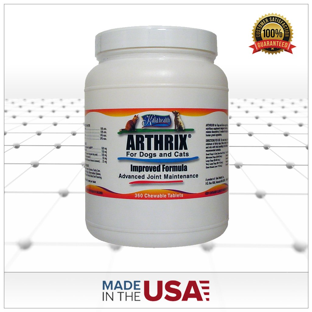 Kala Health Arthrix 360 Tablets. This Is a Powerful Chewable Joint Support Supplement. All ingredients (MSM, Glucosamine, Chondroitin, CMO, Ester C and Minerals) Are Sourced and Made in the USA. by Kala Health