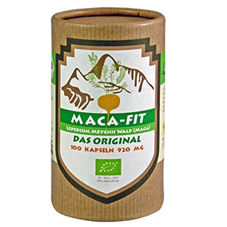 Maca fit 100 cápsulas polvo puro de la raíz de maca organica, Maca original del