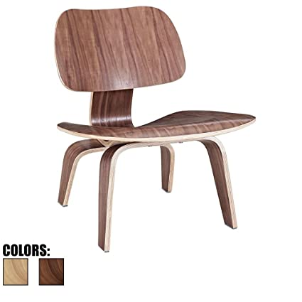 2xhome   Walnut   Brown Wood   15.25u0026quot; Seat Height Eames Plywood Lounge  Chair Eames